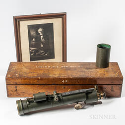 John Alfred Brashear Telescope and Signed Photomechanical Reproduction