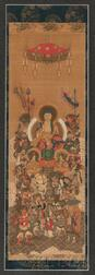 Buddhist Painting Depicting Sakyamuni Triad