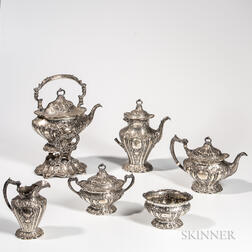 "Six-piece Gorham ""Chantilly"" Pattern Sterling Silver Tea and Coffee Service"