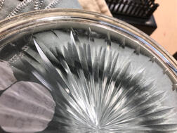 Russian .875 Silver-mounted Cut Glass Dish