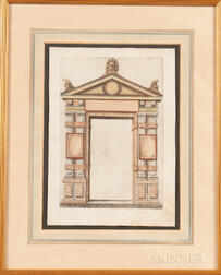 Sebastiano Serlio (Italian, 1475-c. 1554)      Design for a Renaissance Doorway