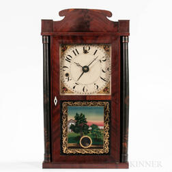 Silas Hoadley Miniature Column and Splat Shelf Clock