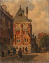 Dutch School, 19th Century      Bustling Street.