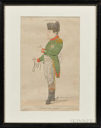 General sans pareil   (The Peerless General) Napoleon Etching