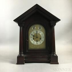 Junghans for Tiffany & Co. Mahogany-cased Shelf Clock
