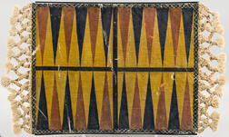 Painted Sailcloth Backgammon Game Board