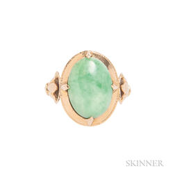 18kt Gold and Jade Ring