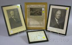 Seven U.S. and International Historical and Entomology Related Signatures,   Documents, and Prints