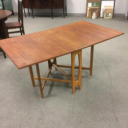 Mid-century Teak Tuck-away Table