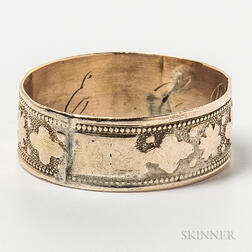 Engraved Low-karat Gold Band