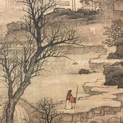 Hanging Scroll Depicting a Landscape