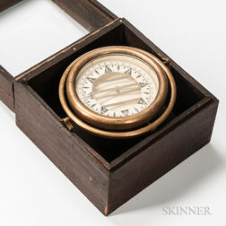6-inch Gimbaled Brass-cased Compass