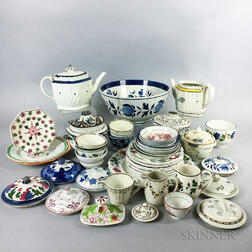 Approximately Forty-eight Pieces of Mostly Pearlware Tableware.     Estimate $150-250