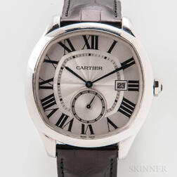 Drive De Cartier Stainless Steel Wristwatch Full Set
