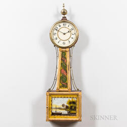 Gilt-gesso and Mahogany Wall Timepiece