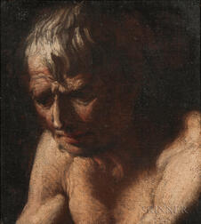 Manner of Luca Giordano (Italian, 1634-1705)    Portrait Head of a Man