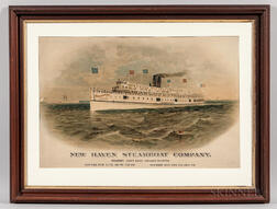 New Haven Steamship Company Advertising Lithograph