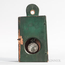 Green-painted Pine Watch Hutch