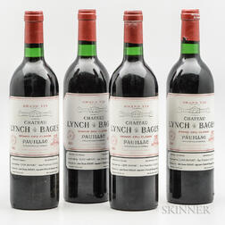 Chateau Lynch Bages 1982, 4 bottles