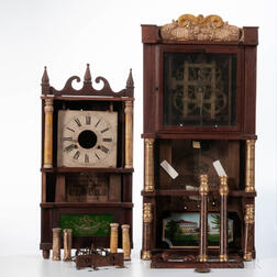 Parts for Two Birge, Mallory & Co. Triple-decker Clocks