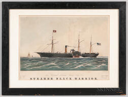 """New York an Alabama Steam Ship Cos. Steamer Black Warrior"" Lithograph"