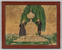 Watercolor Mourning Picture for Mary Ann Brigham