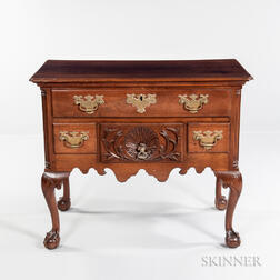 Chippendale Carved Walnut Dressing Table