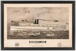Norwich Line Steamship Line Advertising Lithograph