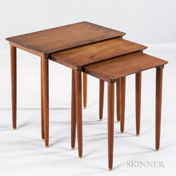 Three Danish Modern Nesting Tables