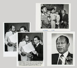 Three Press Photos of Los Angeles Mayor Tom Bradley.