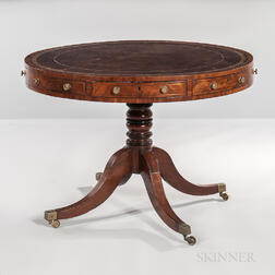 George III-style Mahogany and Mahogany-veneered Rent Table