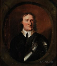 Continental School, 19th Century    Oliver Cromwell, from an Original Painting in the Possession of J.H. Vivian, Esq. H.P.