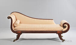 Carved Mahogany Grecian Couch
