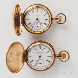 Two Gold-filled E. Howard & Co. Hunter-case Watches