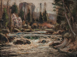 Frank A. Barney (American, 1862-1954)      Independence River, Adirondack