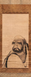 Hanging Scroll Portrait of Daruma