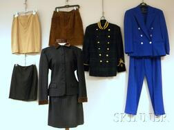 Group of Lady's Designer Mostly Suiting Garments