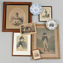 Eight Napoleon Prints and two Transfer-printed Napoleon Plates