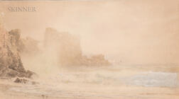 William Trost Richards (American, 1833-1905)      Coastal Cliff
