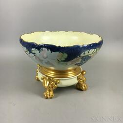 Limoges Porcelain Grapevine-decorated Bowl-on-stand