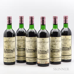 Chateau La Mission Haut Brion 1974, 6 bottles