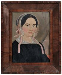 William Matthew Prior (Massachusetts/Maine, 1806-1873)      Portrait of a Woman, Probably Lydia Ann or Mercy Phillips