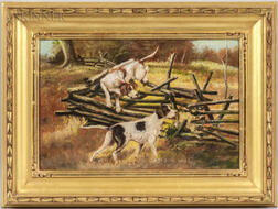 American School, 20th Century    Hunting Dogs