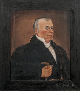 Samuel Lyman Richardson (Maine, act. 1830s)      Portrait of Colonel Daniel Lewis