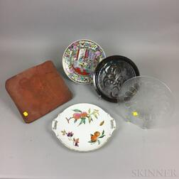 Five Modern Ceramic and Glass Serving Dishes.     Estimate $20-200