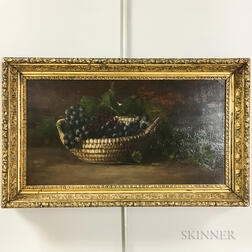 American School, 19th Century       Still Life with Grapes