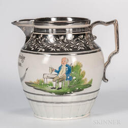 Silver Lustre Resist-decorated Jug Dated 1811
