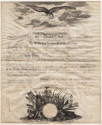 [Madison, James] Stephen Cassin Appointment as Master Commandant in the Navy