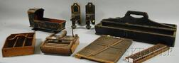Eight Assorted Decorative Wooden and Metal Articles