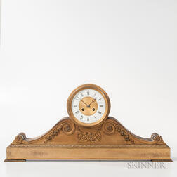 Gilt-metal Tambour Mantel Clock